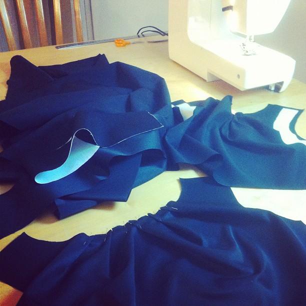 Me petite robe noire… cousue main !