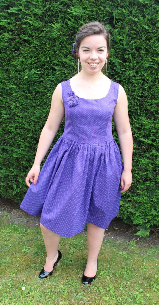 Robe violette à pois turquoises - Les lubies de louise (1 sur 9)