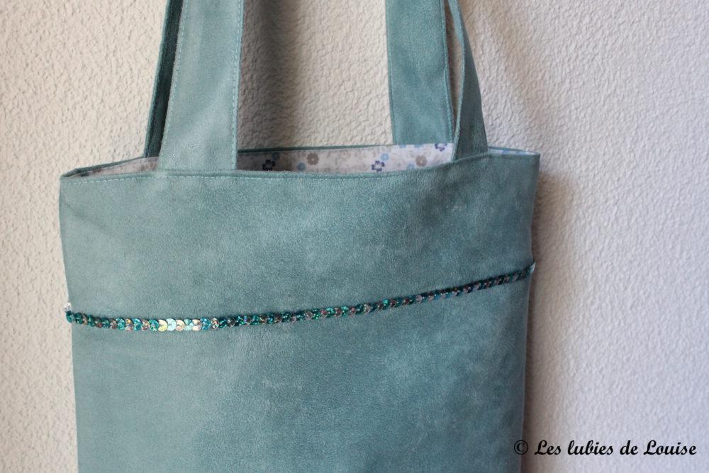 Un joli sac cabas et des paillettes diy les lubies de - Tuto sac a main ...