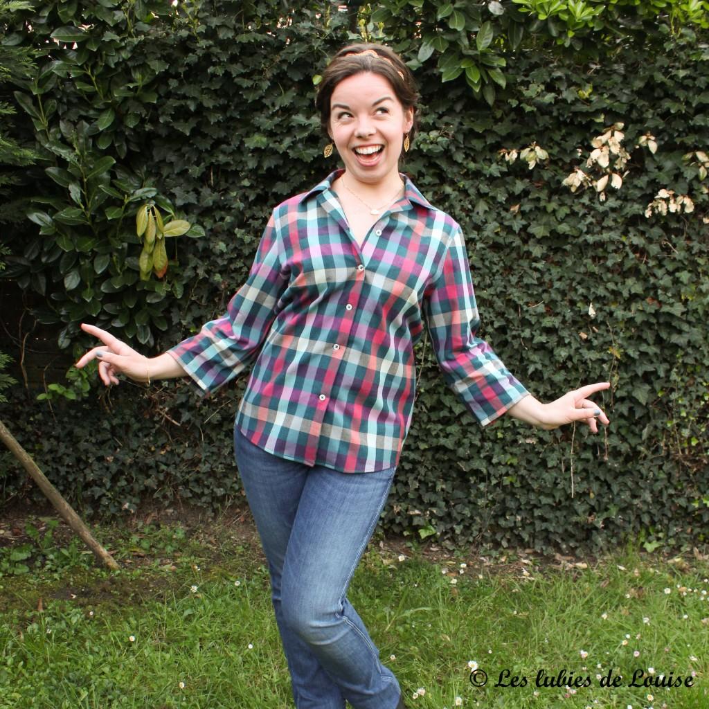Chemise à carreaux pour Alice - Les lubies de louise-2