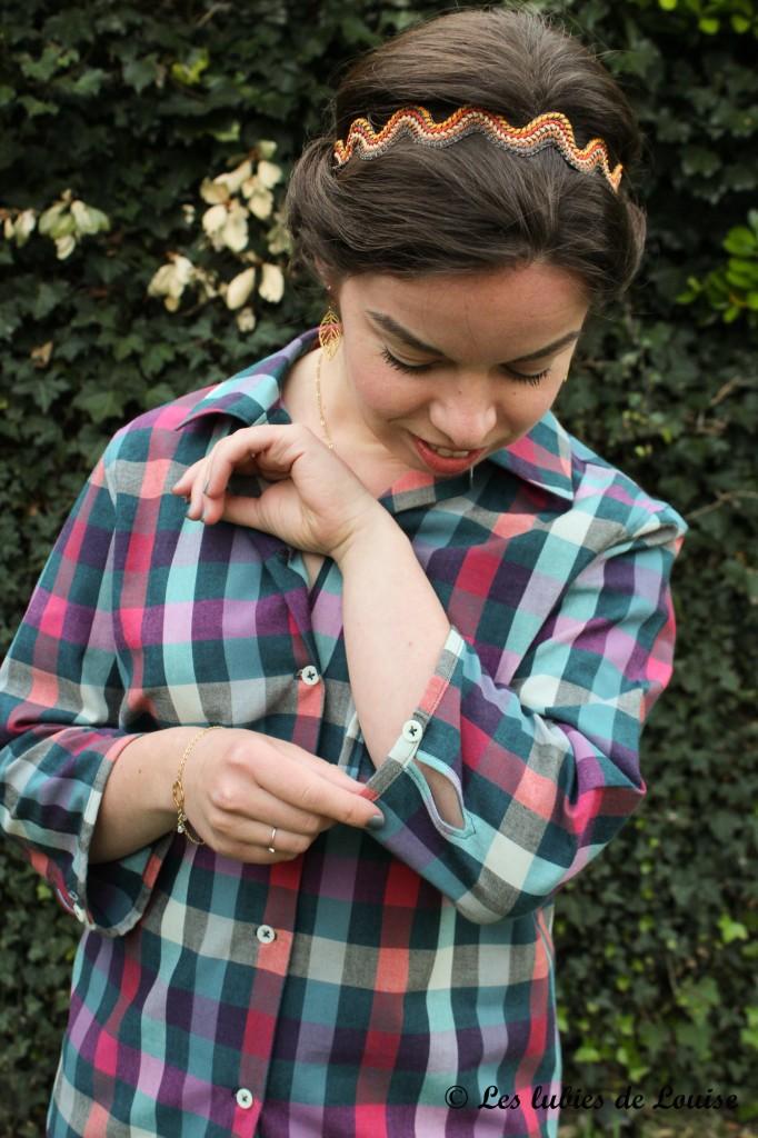 Chemise à carreaux pour Alice - Les lubies de louise-4