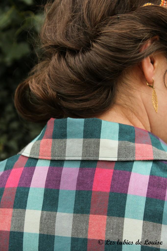 Chemise à carreaux pour Alice - Les lubies de louise-5