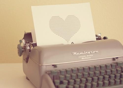 Love coeur machine a écrire