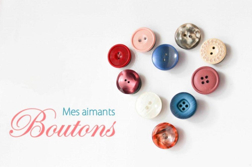 Des boutons aimantés pour mon atelier couture {DIY}
