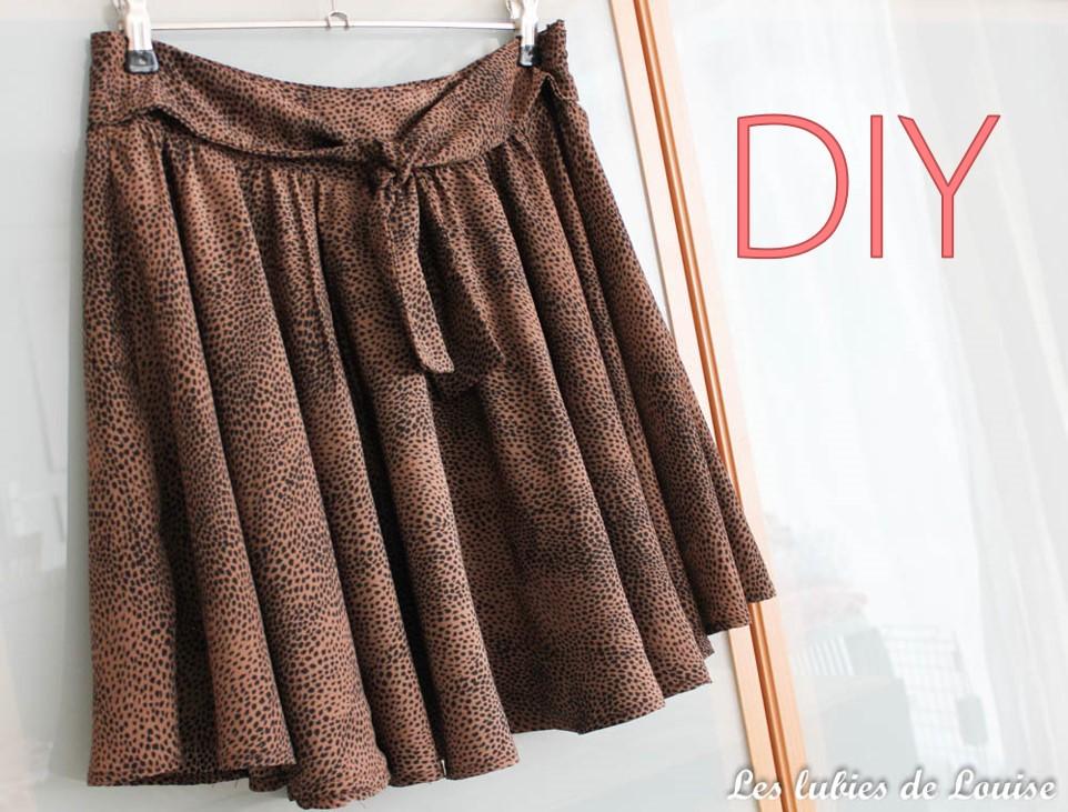 La petite jupe cercle : apprenez à coudre votre premier vêtement {DIY}