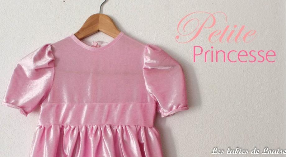 robe de princesse rose - titre Les lubies de louise