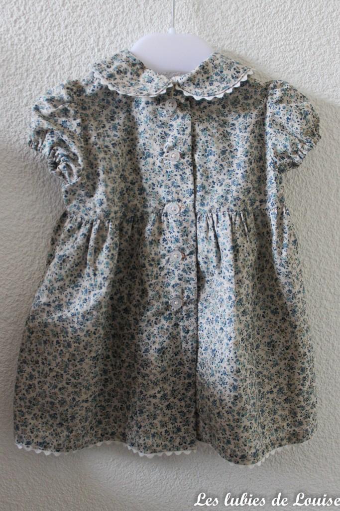 Ensemble robe et gilet de bébé - les lubies de louise-10