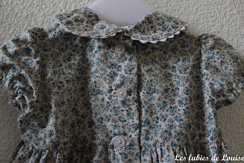 Ensemble robe et gilet de bébé - les lubies de louise-12