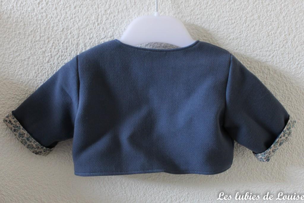 Ensemble robe et gilet de bébé - les lubies de louise-17