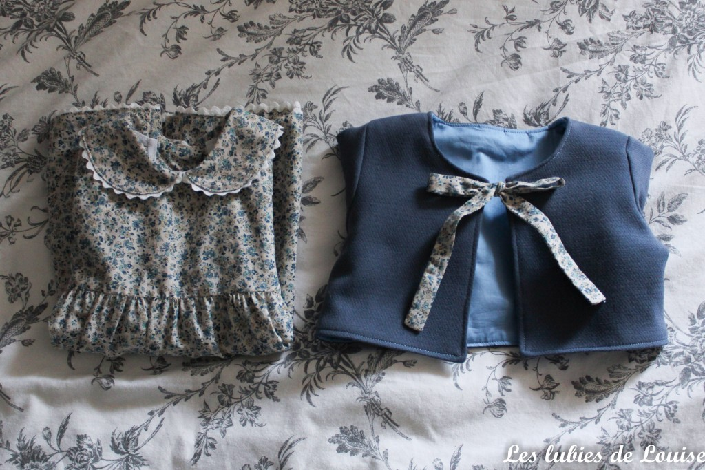 Ensemble robe et gilet de bébé - les lubies de louise-18