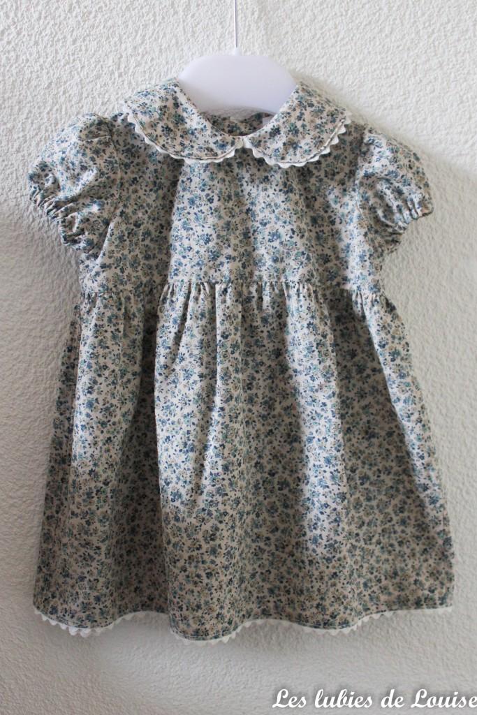 Ensemble robe et gilet de bébé - les lubies de louise-6