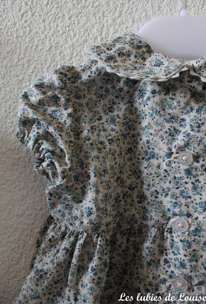 Ensemble robe et gilet de bébé - les lubies de louise-13
