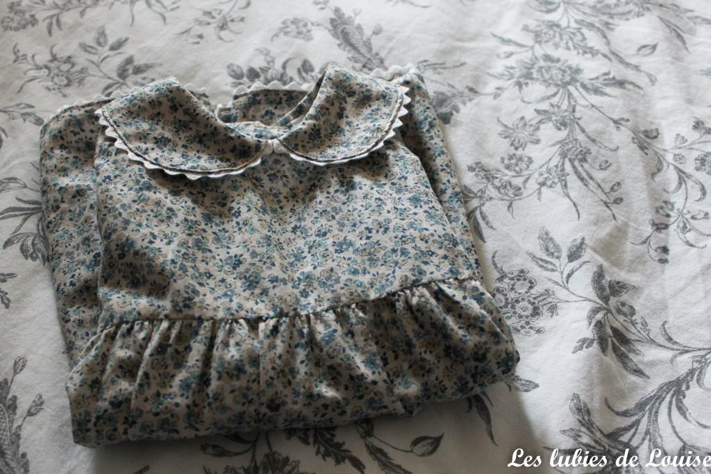 Ensemble robe et gilet de bébé - les lubies de louise-15