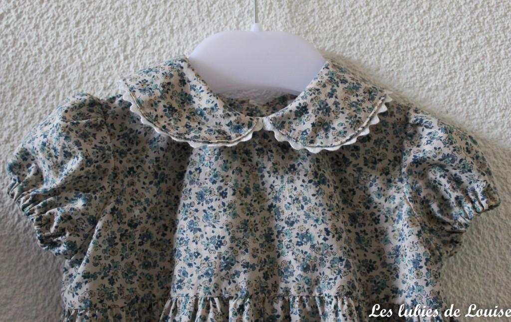 Ensemble robe et gilet de bébé - les lubies de louise-7