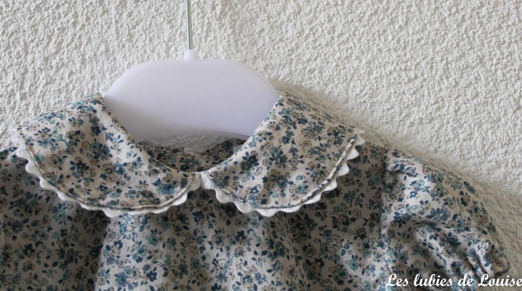 Ensemble robe et gilet de bébé - les lubies de louise-9
