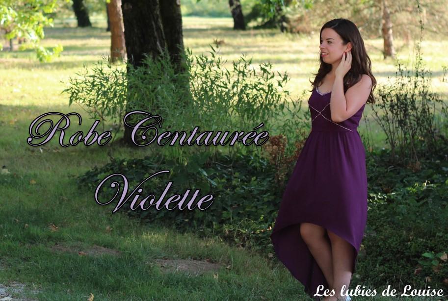 Une centaurée pour un mariage violet