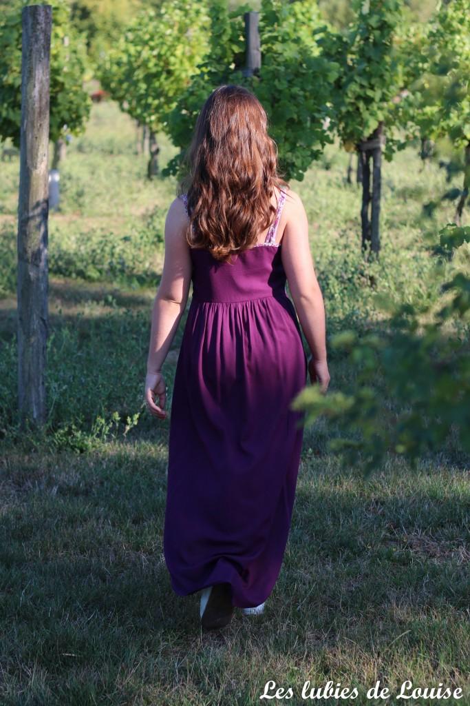 Robe centaurée mariage violet - les lubies de louise