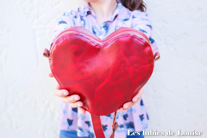 ♥ Sac cœur Cupidon ♥