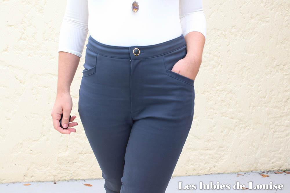 Détails poches pantalon Safran