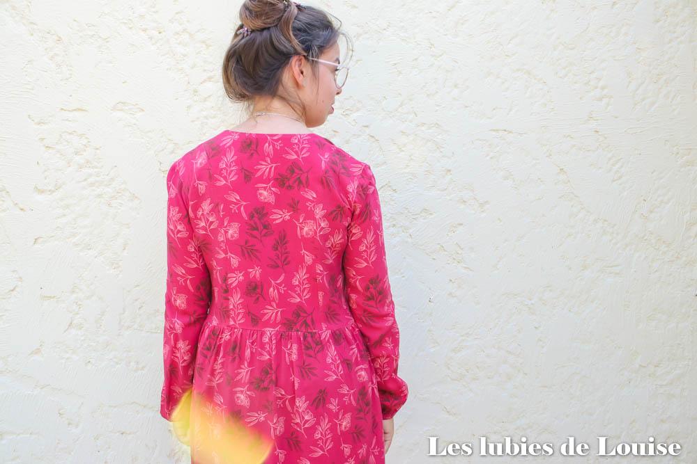 Dos de la robe Ariane Coralie bijasson