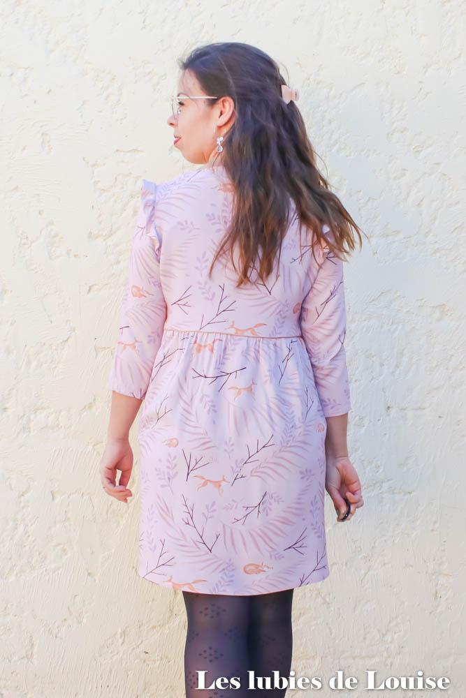 Robe MS Septembre 2020 Tissu Lise Tailor dos