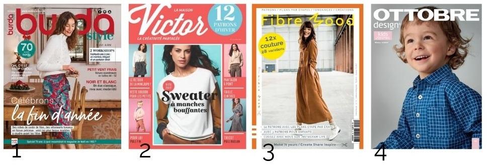 idee cadeau pour couturiere abonnement magazine Burda La maison Victor Fibre mood Ottobre design
