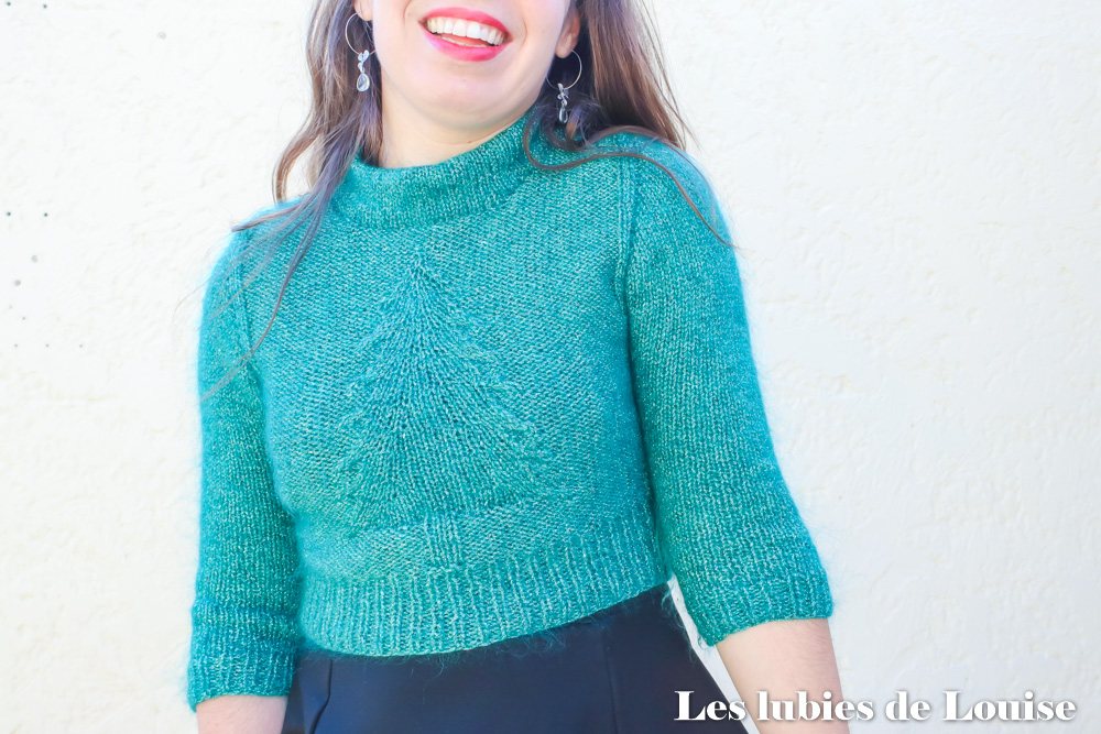 modele Julgran tricot pull sapin