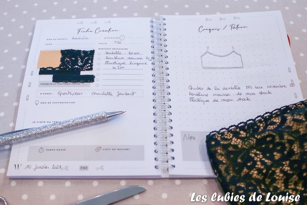 Organiser ses projets couture dans un cahier