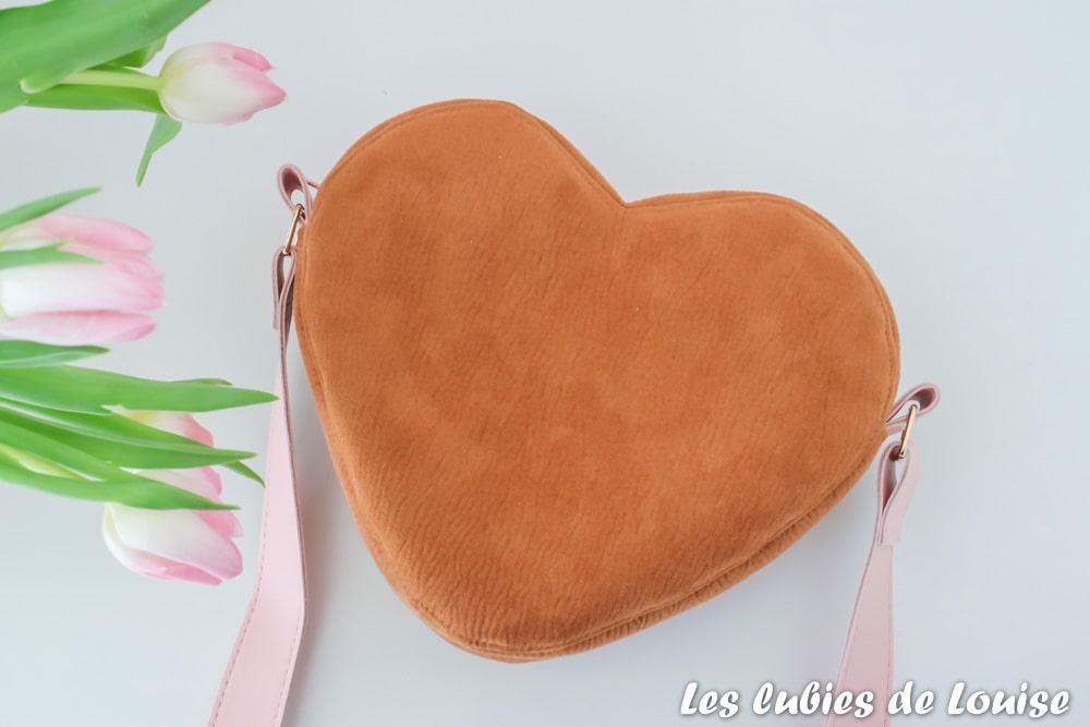 Mon sac coeur Cupidon en daim