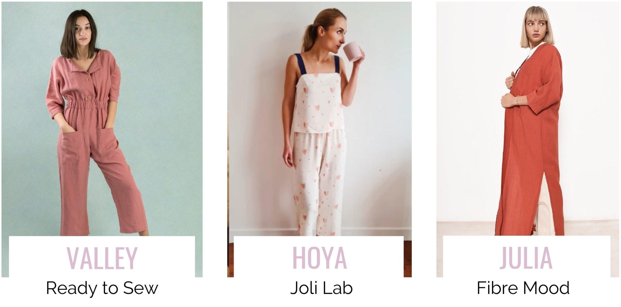 3 patrons de couture gratuits : Valley, Hoya et Julia