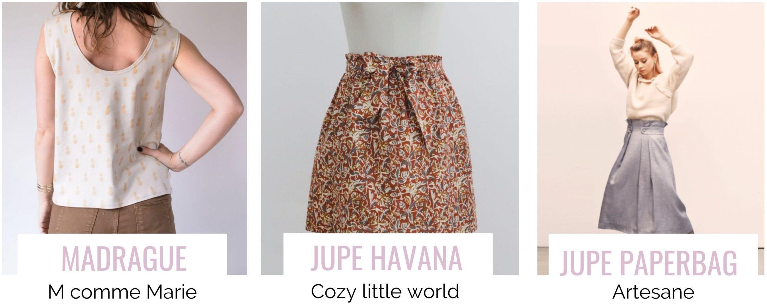 2 modèles de jupes gratuites : Havana et Paper Bag