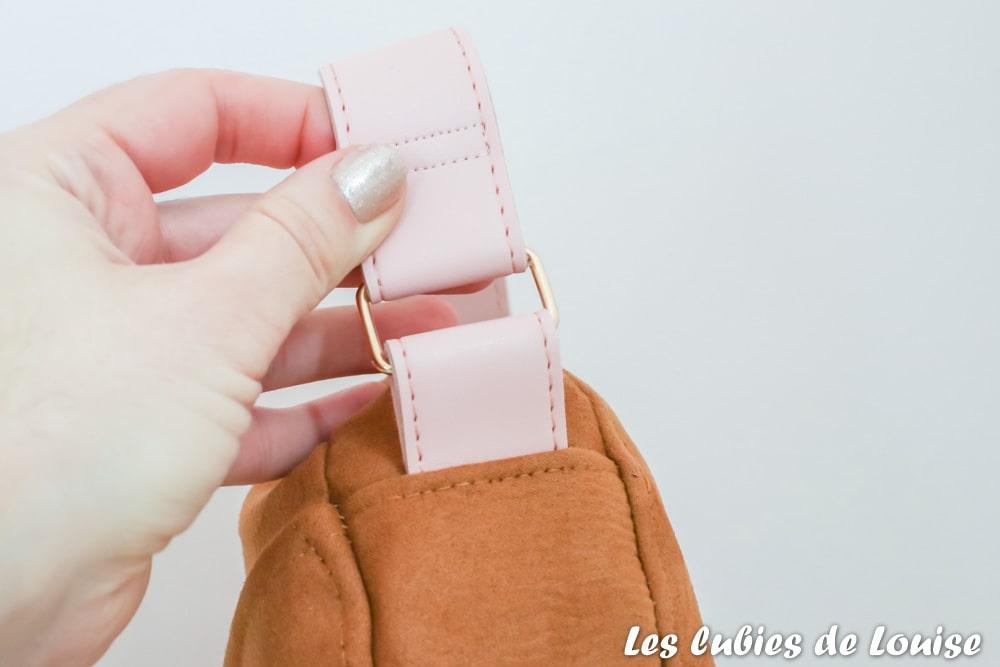 Sangle rose de mon sac