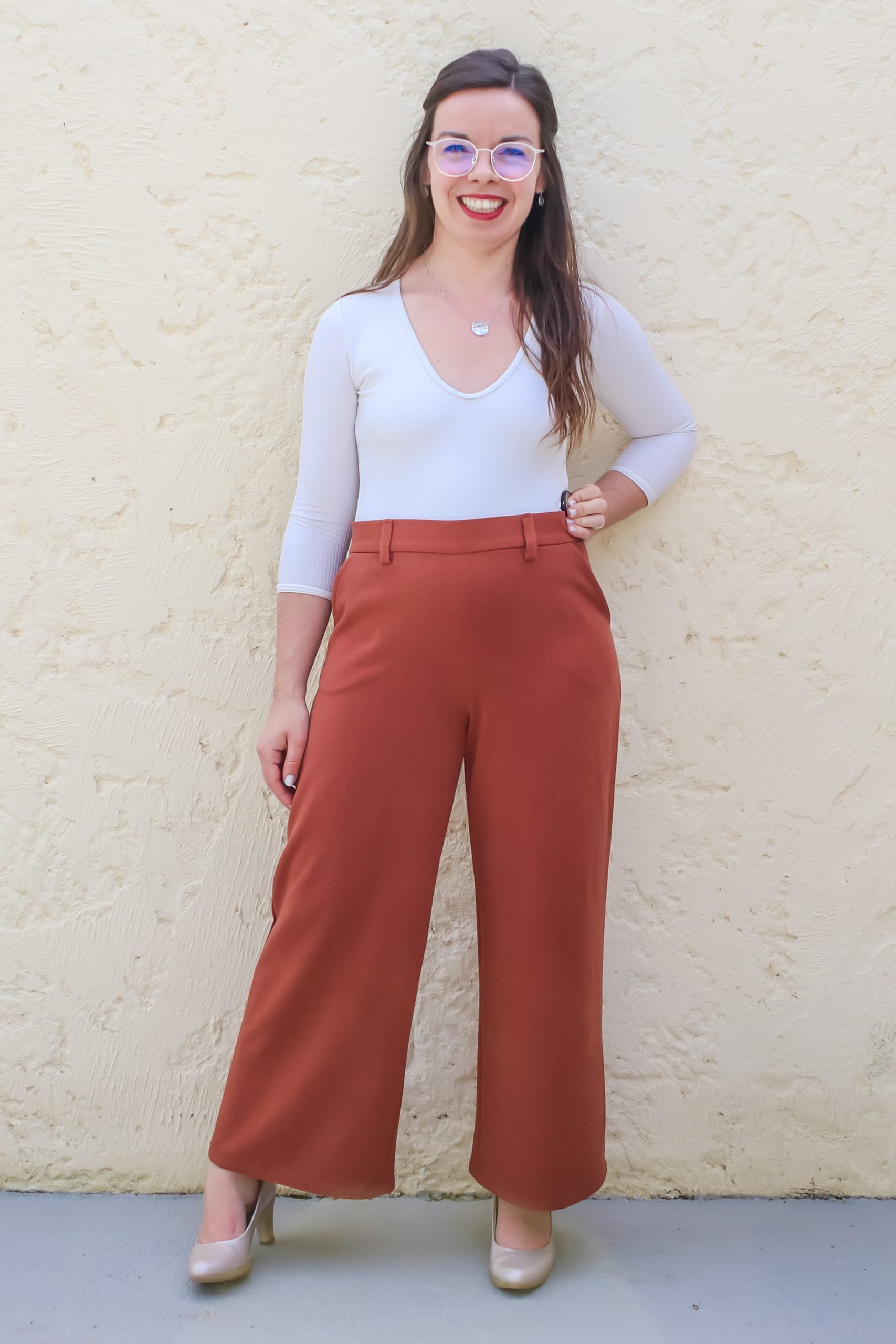 Devant pantalon large