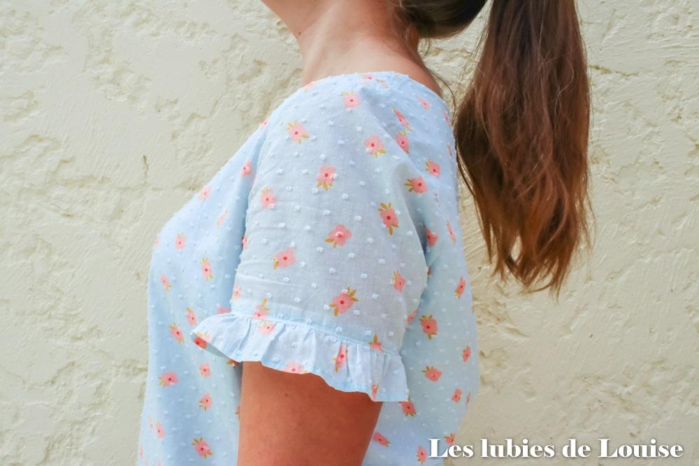 La jolie manche de la blouse Equinoxe