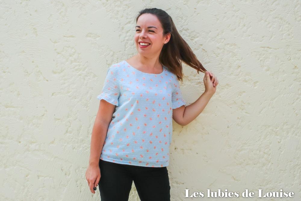 Ma blouse Equinoxe, modèle de mon cours Coudre ses premiers vêtements